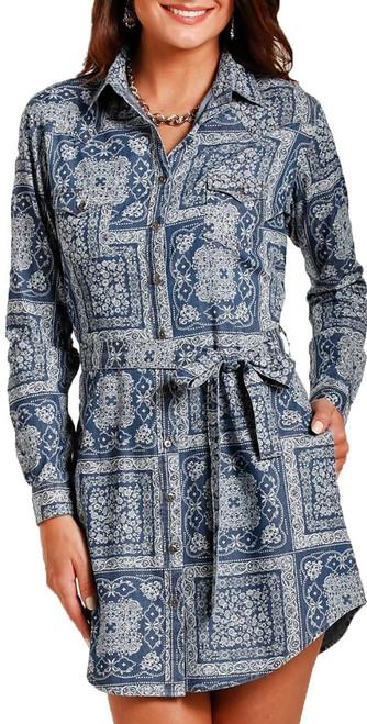 Chambray Snap Dress #26-3325