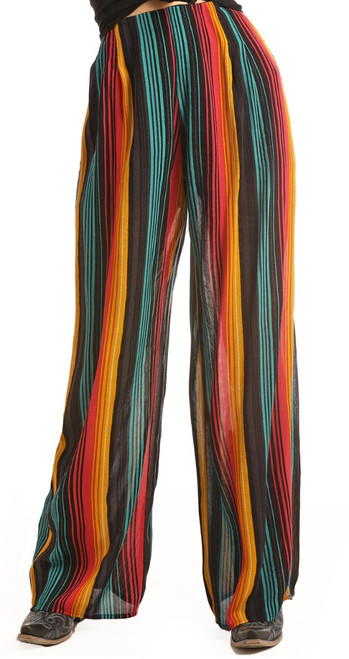 Serape Print Pleated Pants #B9-2041