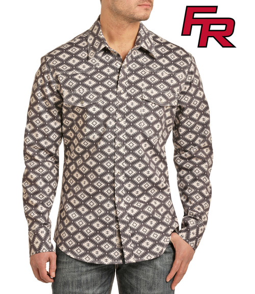 FR Aztec Twill Long Sleeve Work Shirt #B2S2336