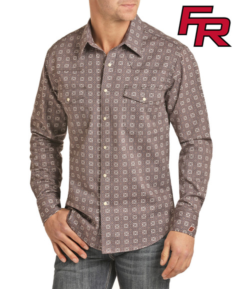 FR Floral Twill Long Sleeve Work Shirt #B2S2337
