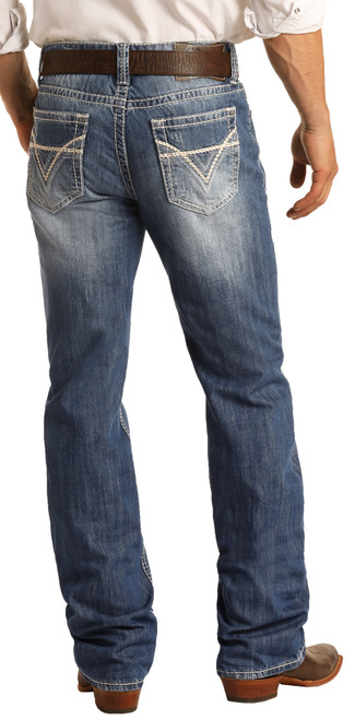 Relaxed Fit Straight Bootcut Jeans #M0S1612