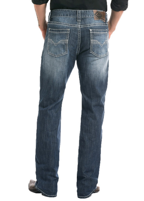 Relaxed Fit Stretch Straight Bootcut Jeans #M0S3473