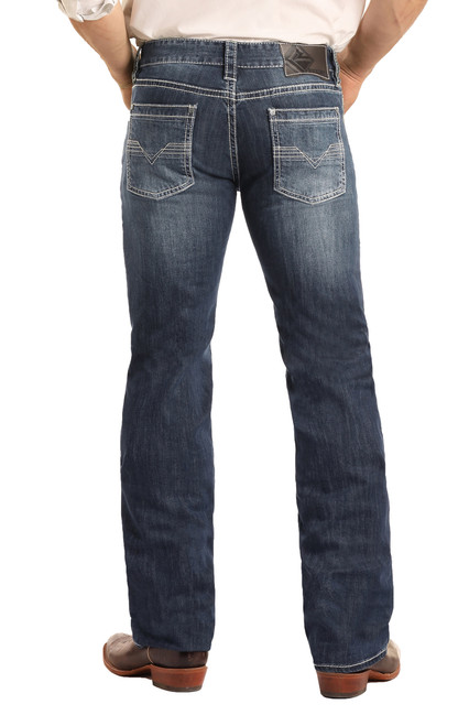 Regular Fit Stretch Straight Bootcut Jeans #M1P3473