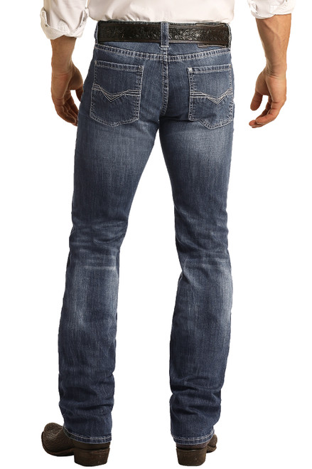 Slim Fit Stretch Straight Bootcut Jeans #M1R3482