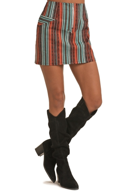 Serape Twill Mini Skirt #69-6251