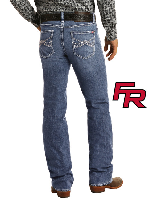 Flame Resistant Relaxed Fit Extra Stretch Straight Bootcut Jeans #F0S5827