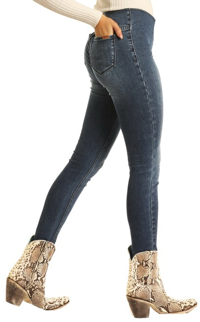 Skinny Mini High Rise Stretch Pull-On Jeans #WPS7548