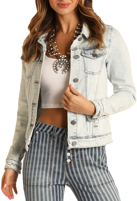 Light Wash Denim Jacket #52-8222