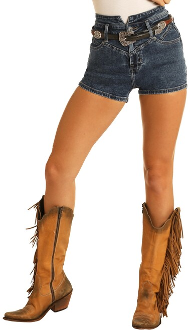 High Rise Denim Shorts #68H8203