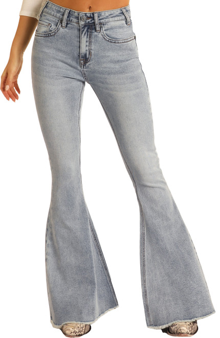 High Rise Extra Stretch Bell Bottom Jeans #WHB8187