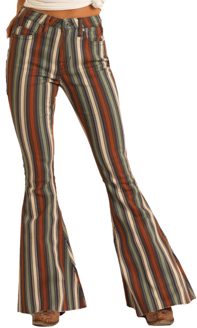 High Rise Extra Stretch Bell Bottom Jeans #WHB8189