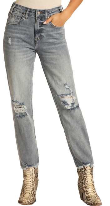 High Rise Extra Stretch Cropped Straight Leg Jeans #WSC8231