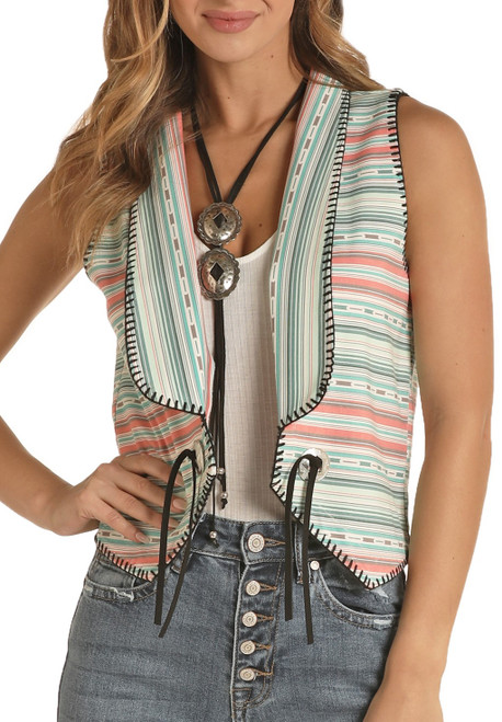 Serape Striped Vest #B5V8380