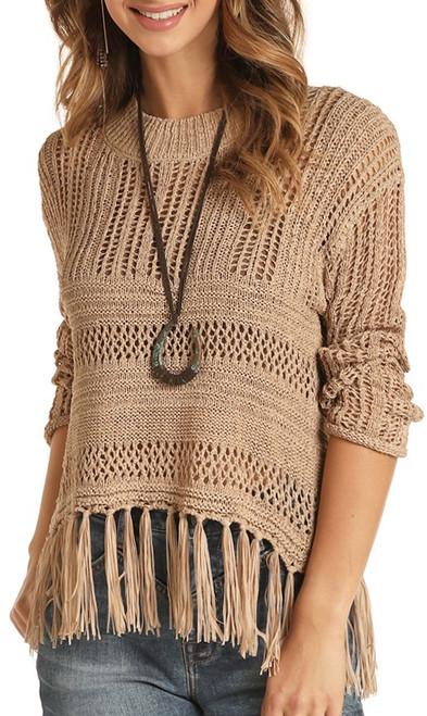 Fringe Knit Sweater #46-8393