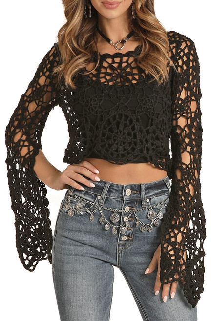 Cropped Crochet Top #46-8420