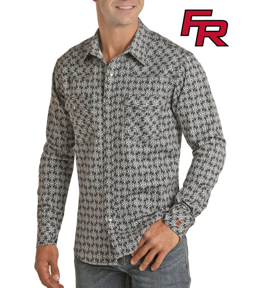 Flame Resistant Aztec Print Long Sleeve Work Shirt #B2S6563