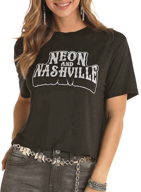 Neon And Nashville Cropped Tee #49T8443