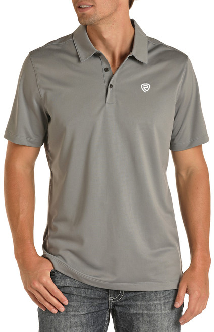Rock & Roll Denim Grey Performance Polo #P9P8016