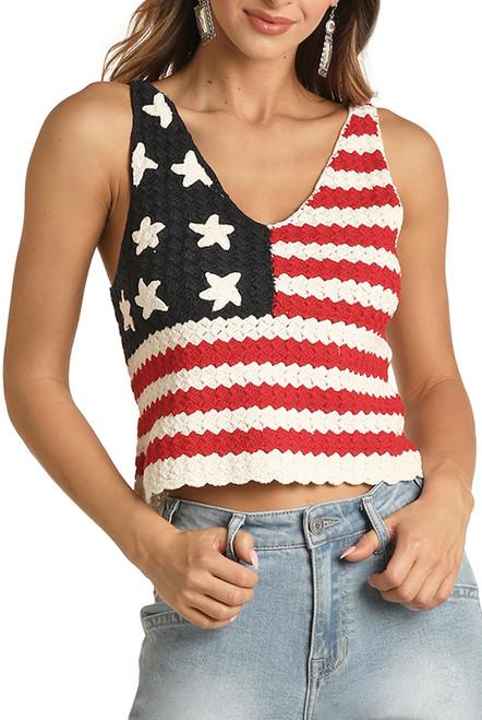 Crochet American Flag Tank #49-9948