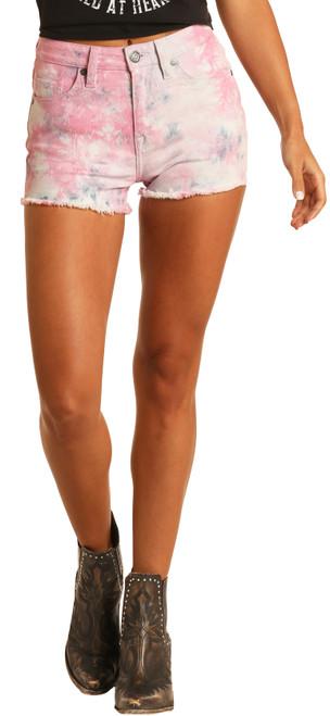 High Rise Tie-Dye Shorts #68H9751