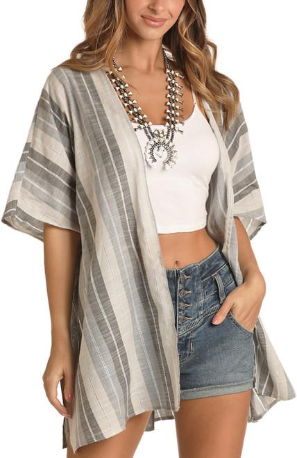 Serape Stripe Kimono #B4K9941