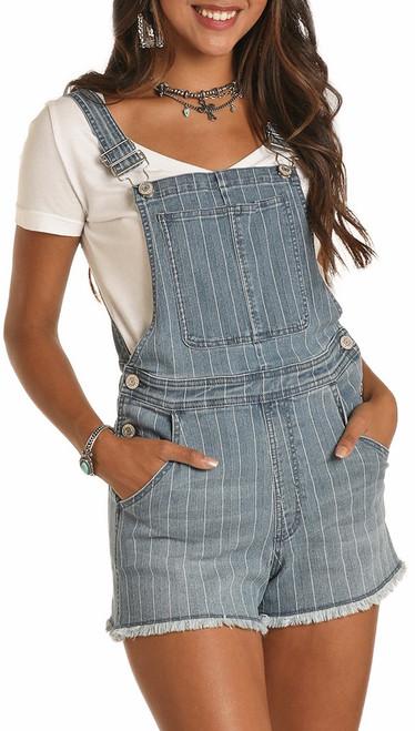 Striped Overall Shorts #WA-9752