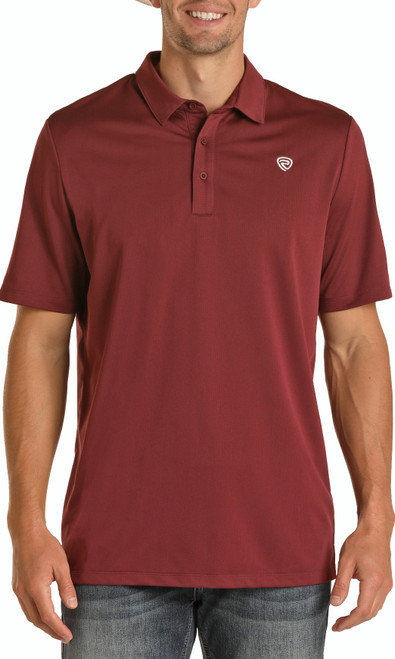 Rock & Roll Denim Red Performance Polo #P9P8020