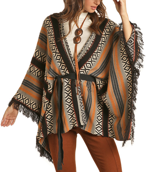 Knitted Poncho  #46-1162