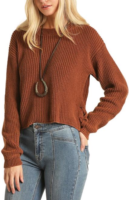 Side Slit Sweater #46-1181