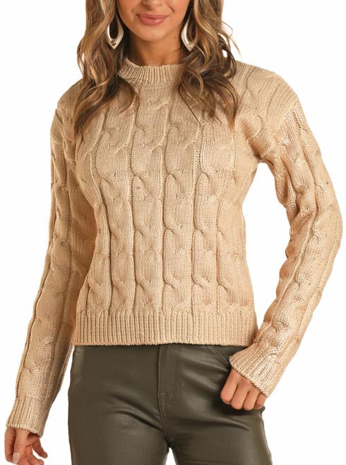 Metallic Print Sweater #46-7668