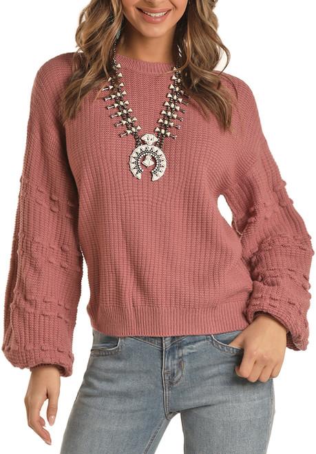Dot Sleeve Sweater #46-7676