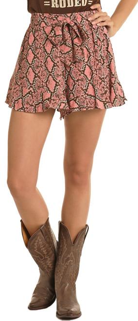 Snake Print Flounce Shorts #68-5138