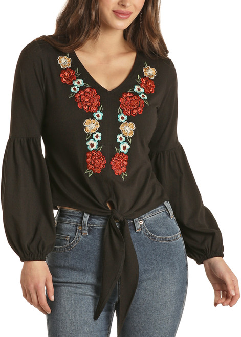 Embroidered Peasant Blouse #48T1190