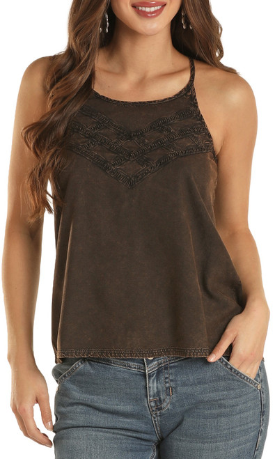 High Neck Mineral Wash Tank Top #B5-9932