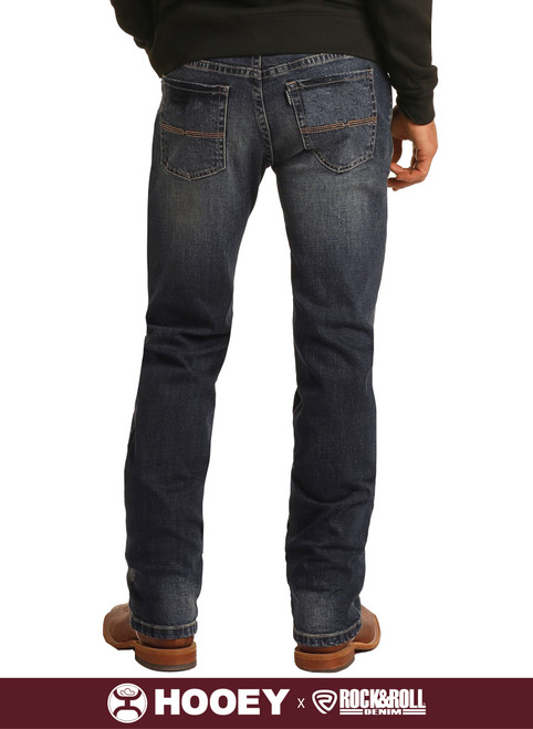 Hooey Slim Fit Stretch Straight Bootcut Jeans #M1R1809