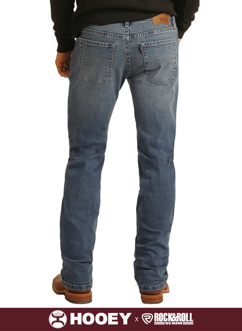 Hooey Slim Fit Stretch Straight Bootcut Jeans #M1R1807