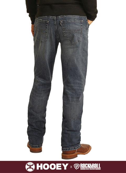 Hooey Relaxed Fit Stretch Stackable Bootcut Jeans #MTB1805
