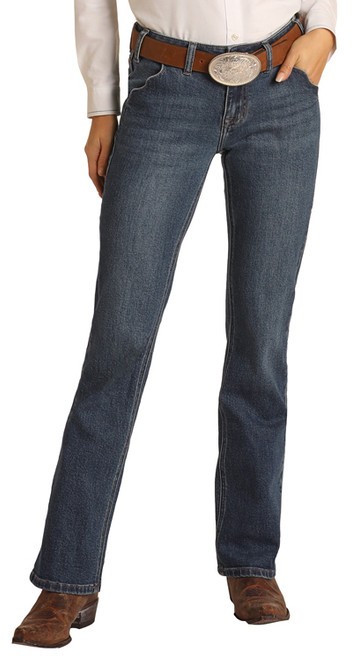 Mid Rise Extra Stretch Bootcut Riding Jeans #W7-1692