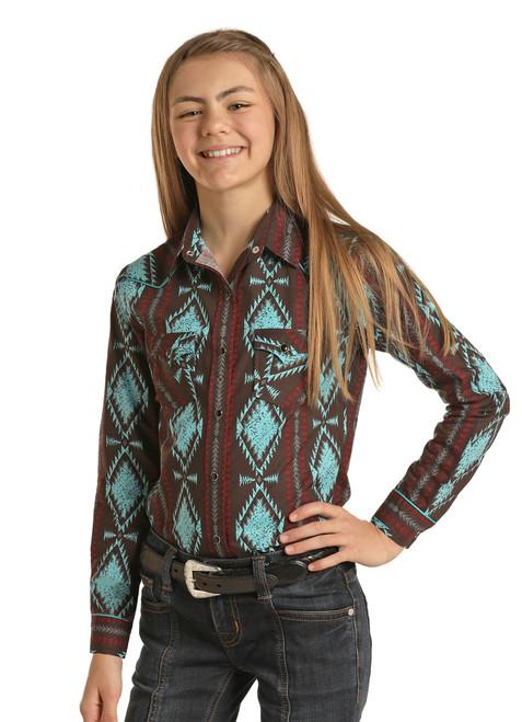 Aztec Long Sleeve Western Shirt #G4S1314