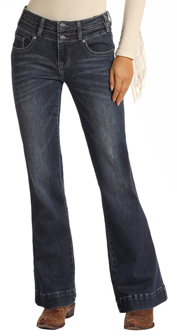 Mid Rise Extra Stretch Double Button Trousers #W8M1661