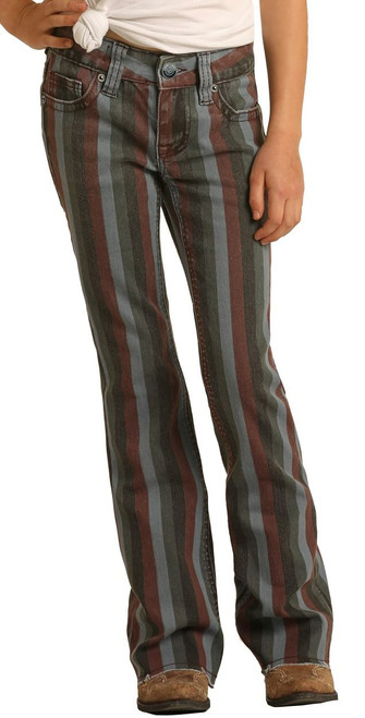 Extra Stretch Striped Trousers #G5F1704