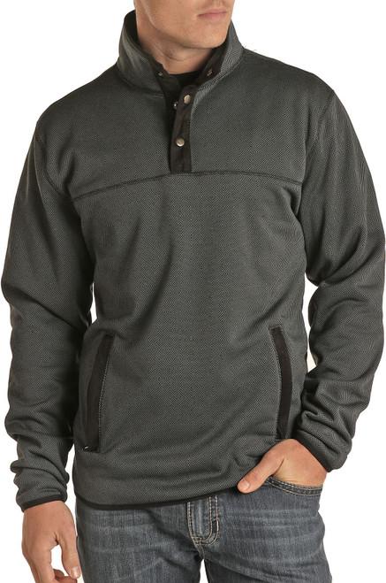 Fleece Jacquard Knit Pullover #91-1050