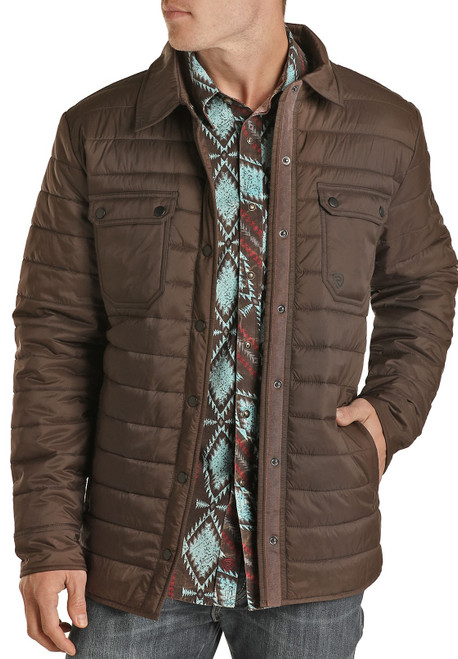 Quilted Puffer Shirt Jacket #92-1131