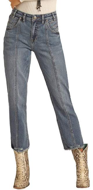 High Rise Extra Stretch Straight Cropped Jeans #WSC1673
