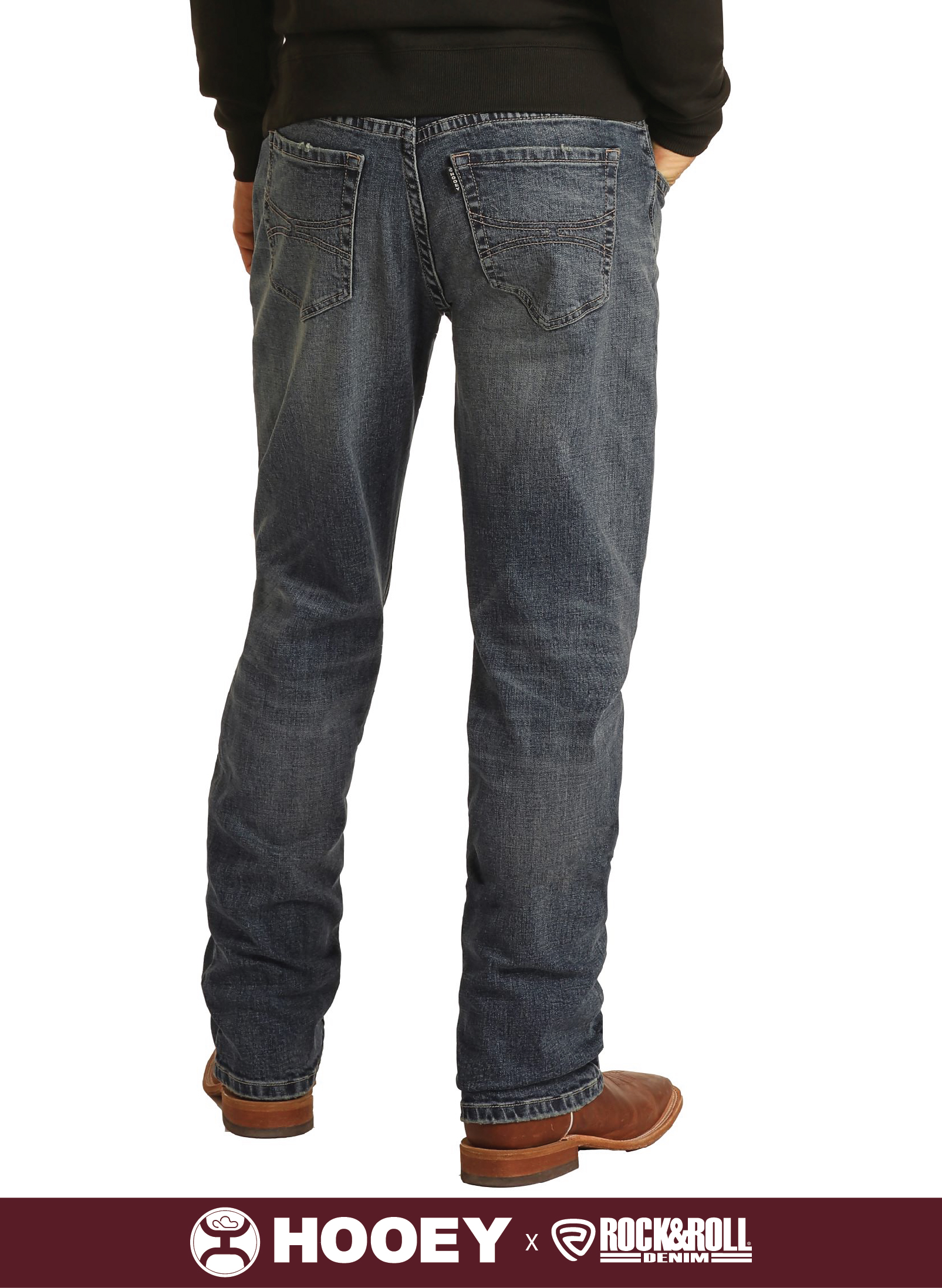 RELAXED FIT STRETCH STACKABLE BOOTCUT JEANS