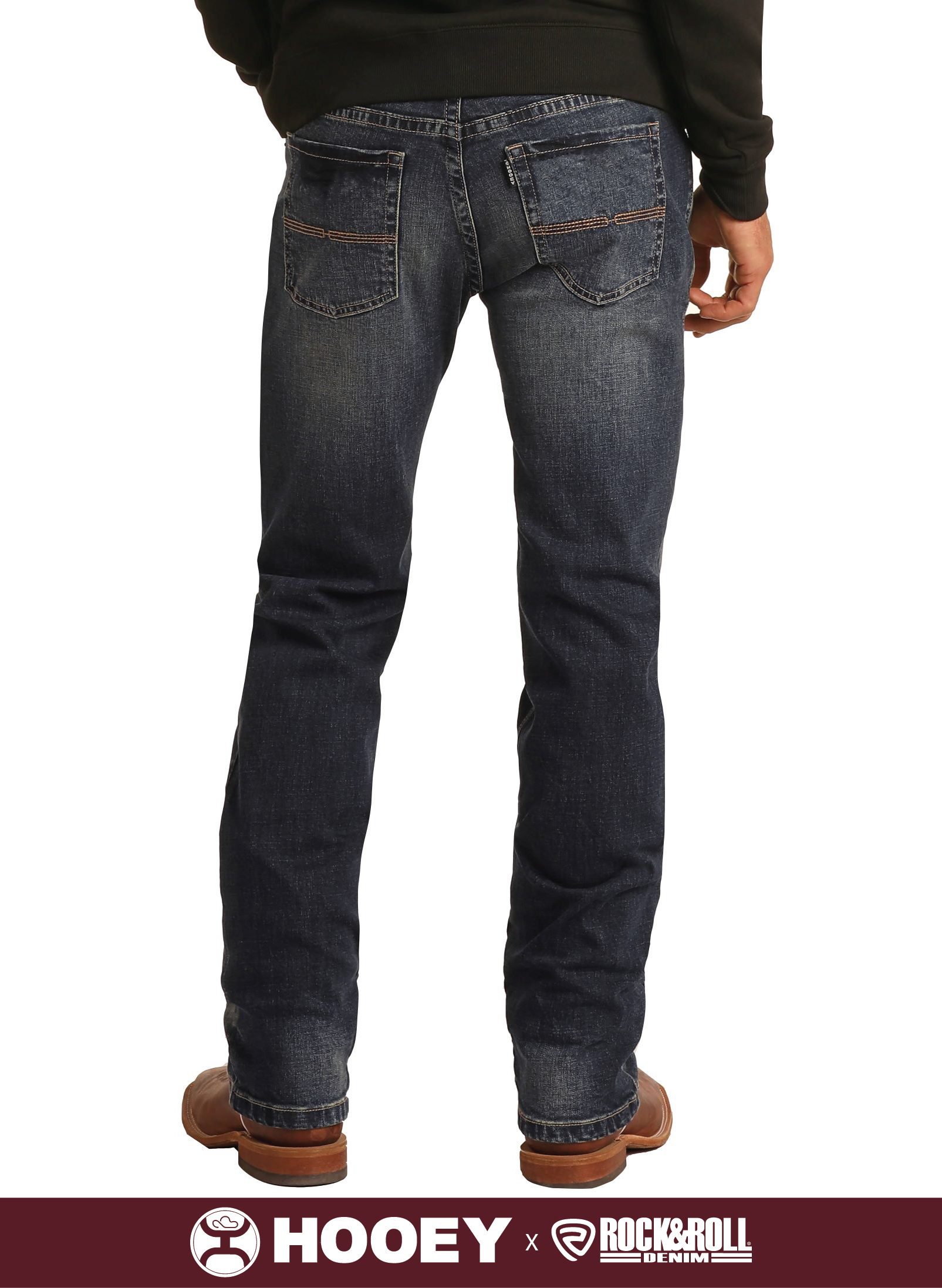 SLIM FIT STRETCH STRAIGHT BOOTCUT JEANS