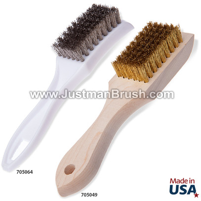 Small Utility Brushes - Wood and Plastic Handle