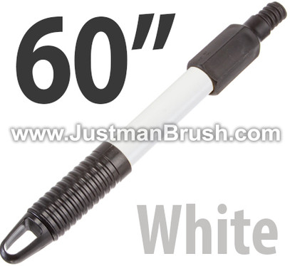 "60"" White Fiberglass Handle w/ Hang Up Hole"