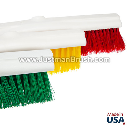 """14"""", 18"""" & 24"""" Color-Coded Push Broom Sweeps"""