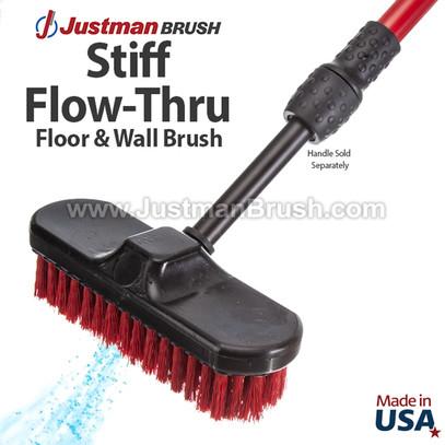 "Industrial 9"" Flow-Thru Wall Brush"